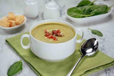 Суп пюре зі шпинату