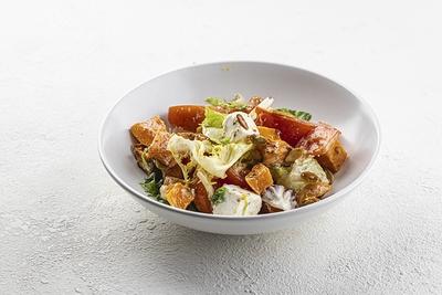 Салат з запеченим гарбузом та фетою