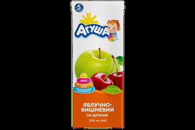 Сік Агуша яблуко-вишня 200 мл