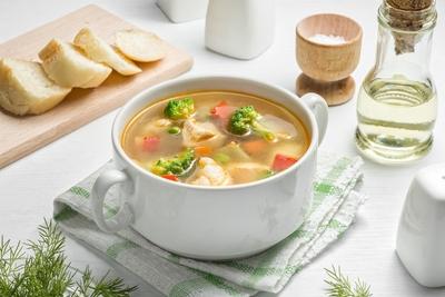 Суп овочевий з куркою