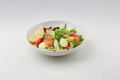 Салат-фреш з лососем